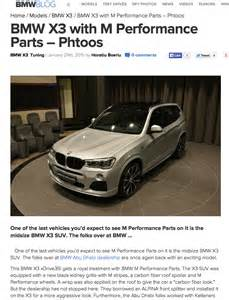 bmw x3 with m performance parts photos
