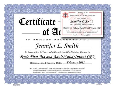 first aid certificate amp cpr certificate plus first aid