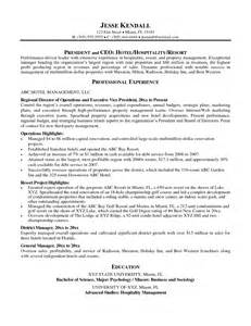 Director Of Operations Resume Sles by Sales Operations Manager Resume