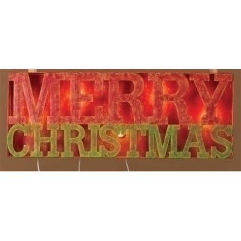 lighted outdoor merry sign 33 quot lighted distressed quot merry quot outdoor
