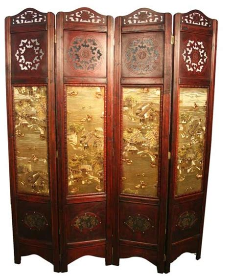 Vintage Room Divider Vintage Style 4 Panels Screen Room Divider
