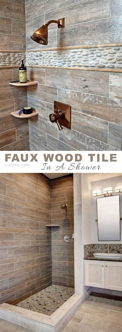 Tile Master Bathroom Ideas by Best 25 Wood Tile Shower Ideas On Rustic