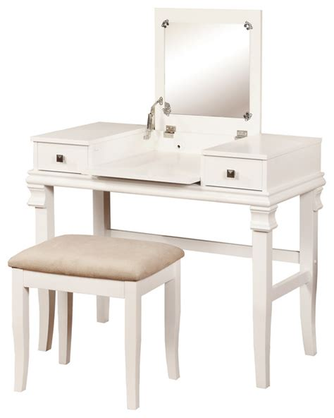 contemporary bedroom vanity set angela white vanity set contemporary bedroom makeup
