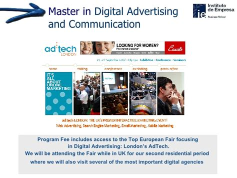 Ie Business School Global Mba Fees by Master In Digital Advertising Communication Ie Business