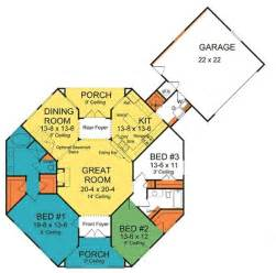 octagon floor plans octagon house plans plan w42262db octagonal cottage