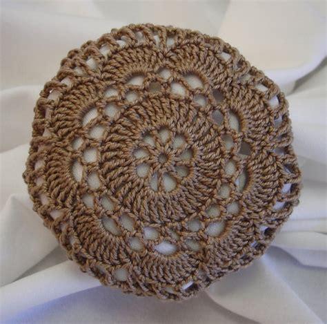 crochet pattern bun net crocheted light brown hair net bun cover flower by