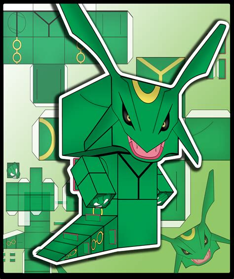 Rayquaza Papercraft - rayquaza by jaramillo13 on deviantart