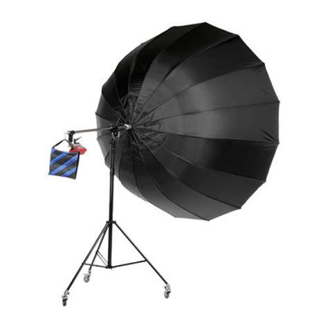Menik Set Jumbo menik sm 17ad 220cm parabolische paraplu zwart zilver