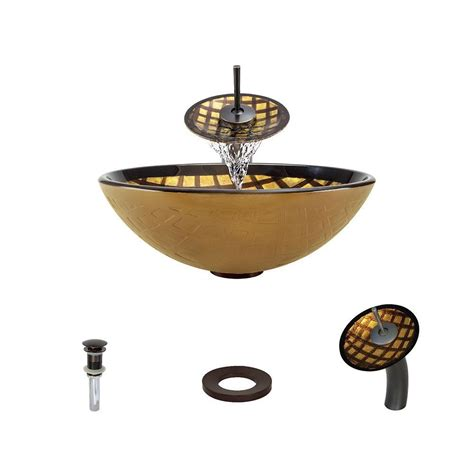 mr direct vessel sinks vigo vessel in copper mosaic with faucet set in oil