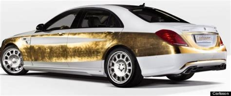 real gold cars luxury car covered in real gold is the definition of