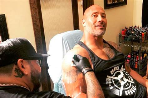the rocks new tattoo celebrity tattoo designs