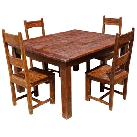 rustic wood dining room sets rustic solid wood appalachian dining room table chair set