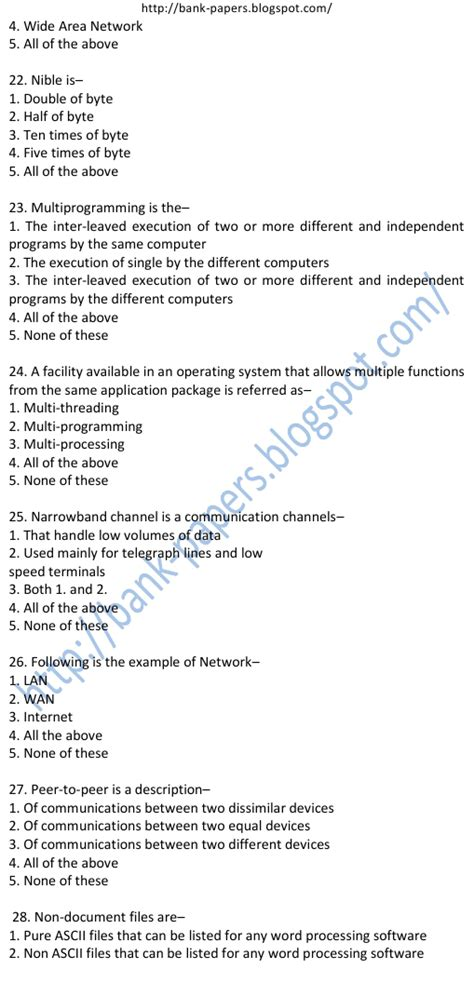 study material for bank po exercise 22 computer questions for bank po