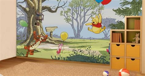 winnie the pooh home decor winnie the pooh up and away wall mural wallpaper