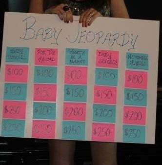 Baby Shower Jeopardy by Baby Jeopardy Gender Reveal Ideas Gender Reveal Reveal And