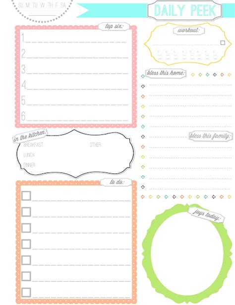 printable daily planner cute 8 best images of cute printable weekly planners cute