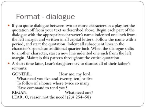 how to write a dialogue paper in text citation play dialogue