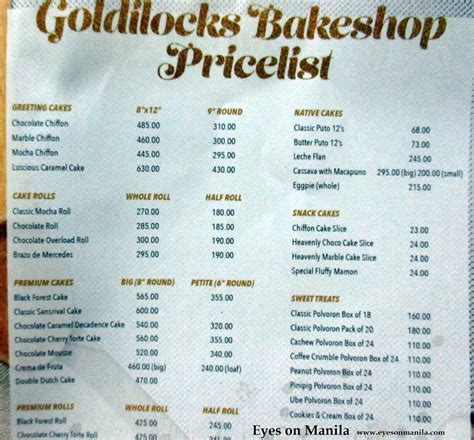 Bridge Faucets Kitchen by Goldilocks Birthday Cake Price List 2017 Goldilocks Cake