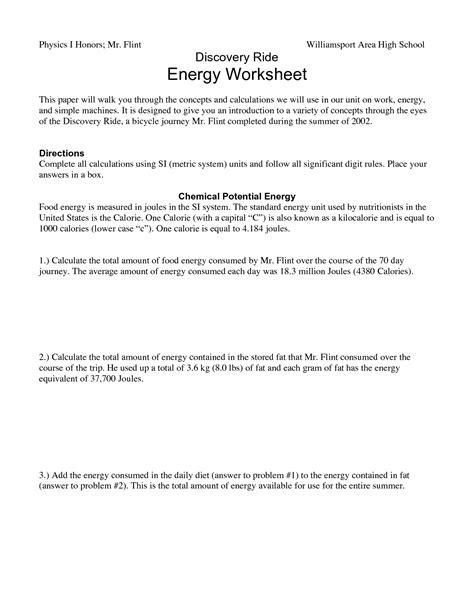 energy conversion worksheet energy conversions worksheet fioradesignstudio