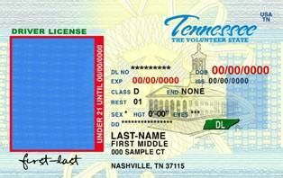 tennessee id card template id templates buy id scannable identification