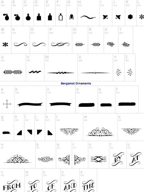 typography ornaments bergamot ornaments typography style ideas