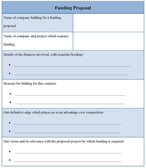 funding proposal template 1 best agenda templates