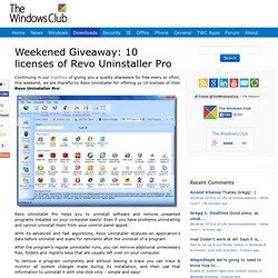 Revo Uninstaller Pro Giveaway - software and technology pearltrees