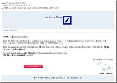 mail deutsche bank internetbetr 252 ger versenden mails im namen der deutsche