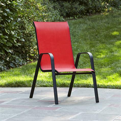 Essential Garden Bartlett Solid Red Stack Chair   Kmart
