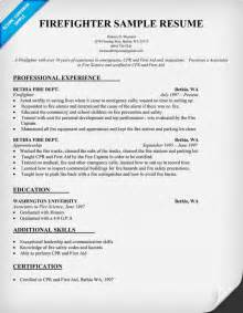 Entry Level Firefighter Resume Entry Level Firefighter Resume