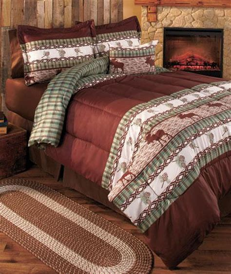 Moose Lodge Comforter Set Twin Full Queen Or King Bed In Moose Bedding Set