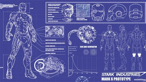 blue prints iron man blueprint wallpaper 19341