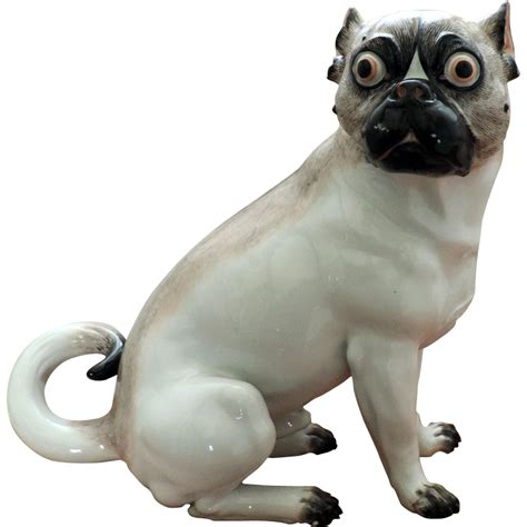 porcelain pug antique 19th century continental porcelain model of a pug from classictradition on