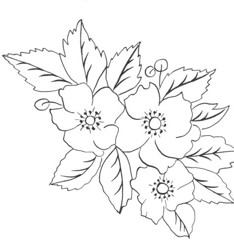 Flower Crown A3 without color flowers sle tattoos book 65