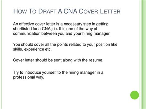 cover letter for cna position how to draft cna cover letter