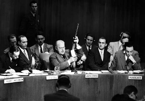 file warren holds up soviet smg at un hd sn 99