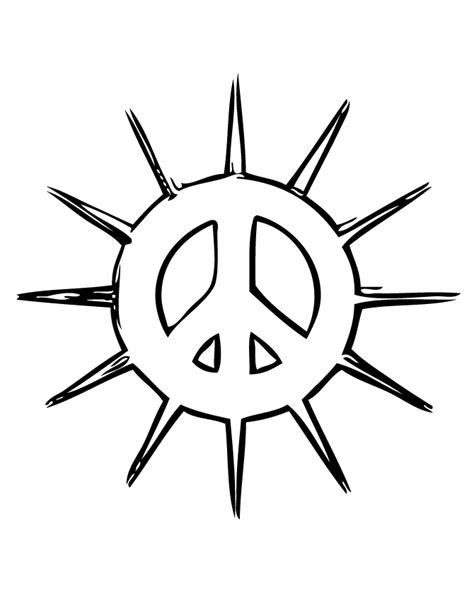 free printable peace sign coloring pages az coloring pages