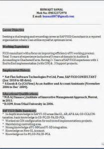 Sap Fico Sle Resume by Sap Fico Professional Resume