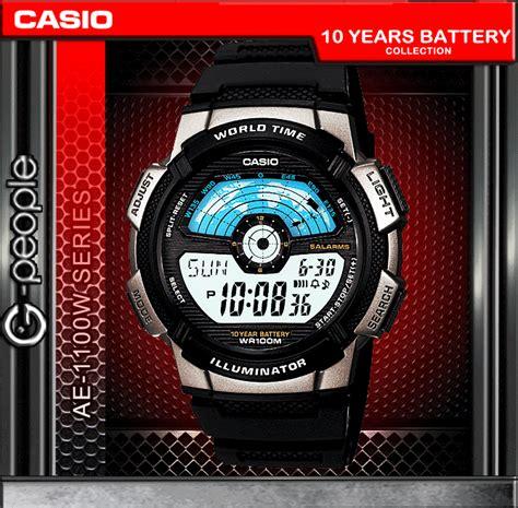 Casio General Series W 753d 1a Casio Original For Unisex casio ae 1100w 1av world time watch original ebay
