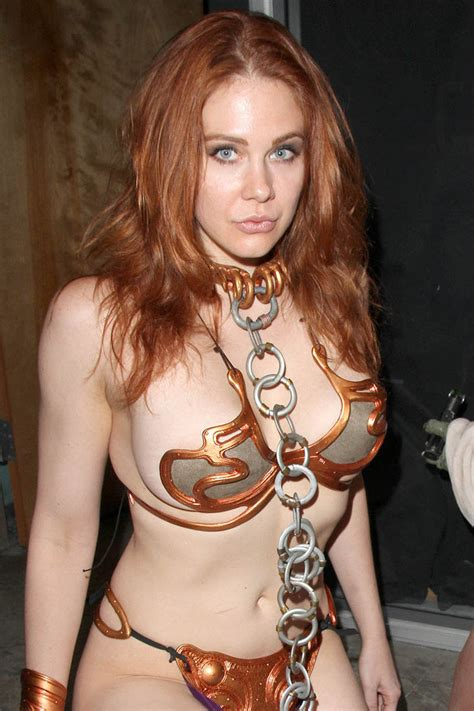 Maitland Ward Leia Slave The Fourth Star Wars Day By C Edward On Deviantart
