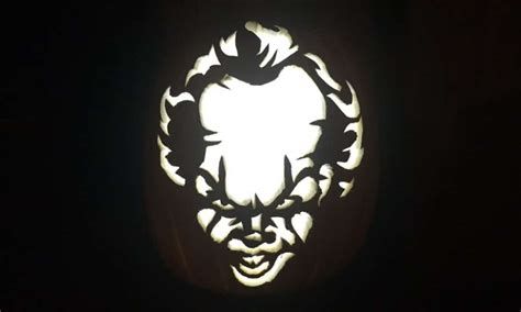 printable pumpkin stencils pennywise pennywise the clown is the it pumpkin carving this halloween