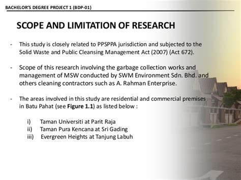 scope and limitations of the study in research paper presentation psm 01