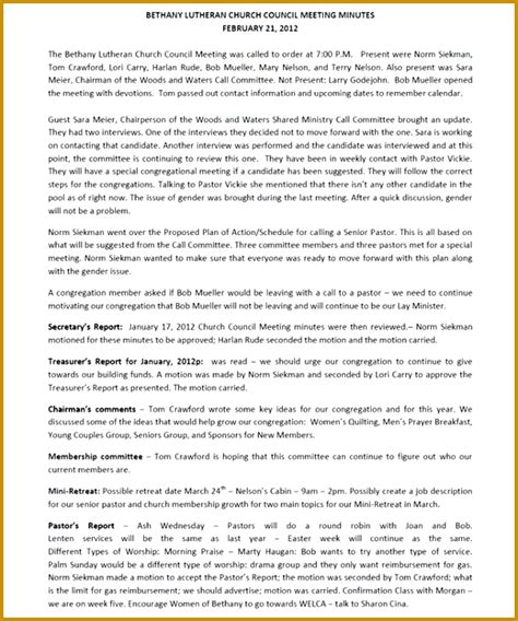 minute paper template 6 church meeting minutes template fabtemplatez