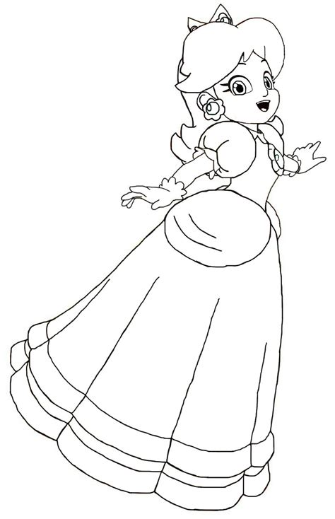 coloring pages of daisy from mario princess peach coloring pages printable mario and peach
