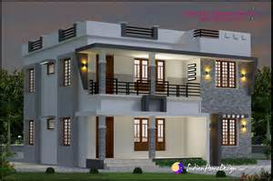 Kerala Home Design Double Floor by 1696 Sqft Modern Double Floor Kerala Home Design Indian