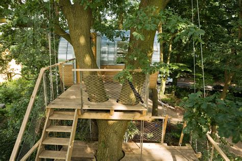 tree house ladder design backyard escape elliptical pod tree house modern house designs
