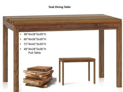 Teak Dining Room Tables by Teak Dining Table Costa Rican Furniture