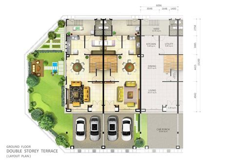 bungalow ground floor plan single story house plans malaysia