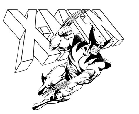 kids printable wolverine coloring page superheroes