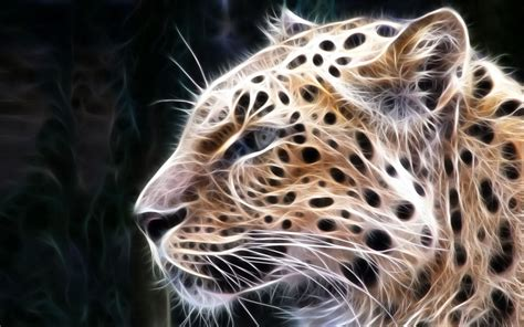 imagenes en 3d animales wallpapers leopard 3d wallpapers
